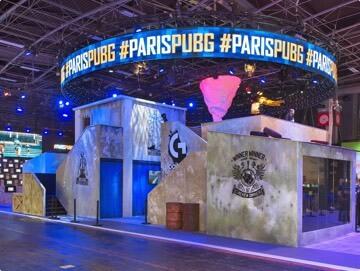 Design et réalisation du stand sur mesure Ubisoft