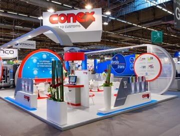 Réalisation du stand traditionnel Conex