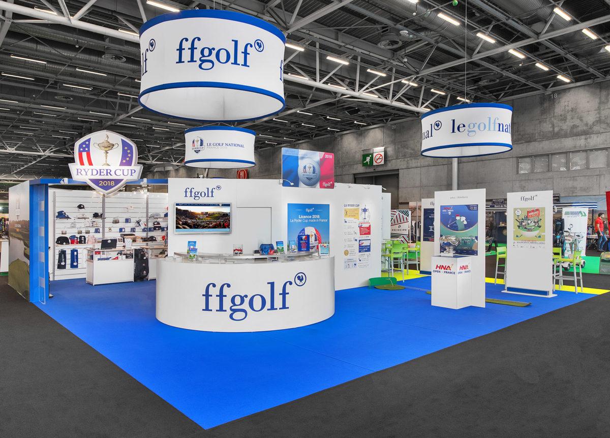 Stand sur mesure FFGolf Salon du Golf 2018